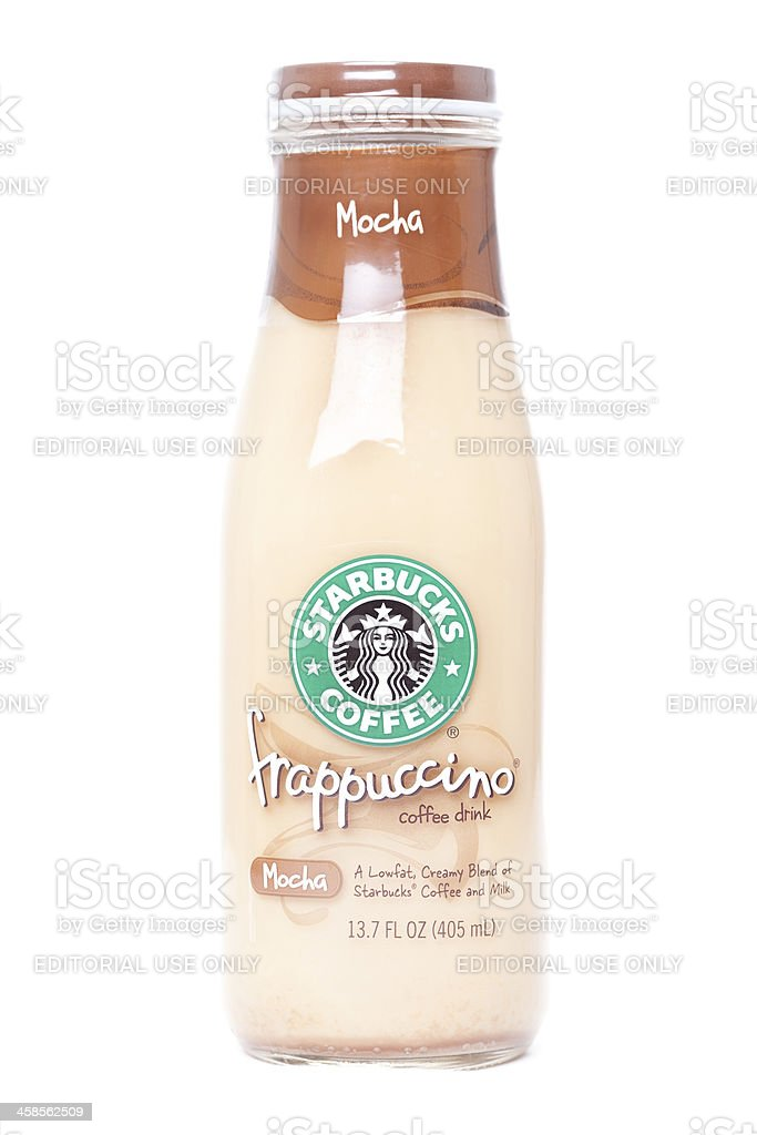 Starbucks Frappuccino Coffee in a bottle royalty-free stock photo