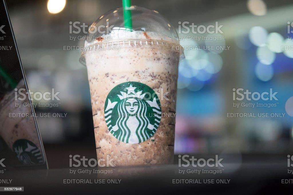 Starbucks Kaffee Frappuccinos Werden Getränke Vermischt Stock ...