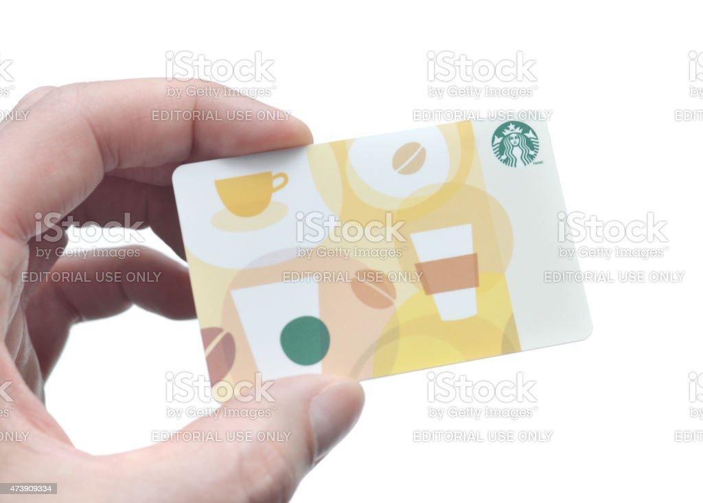 Starbucks Gift Card stock photo