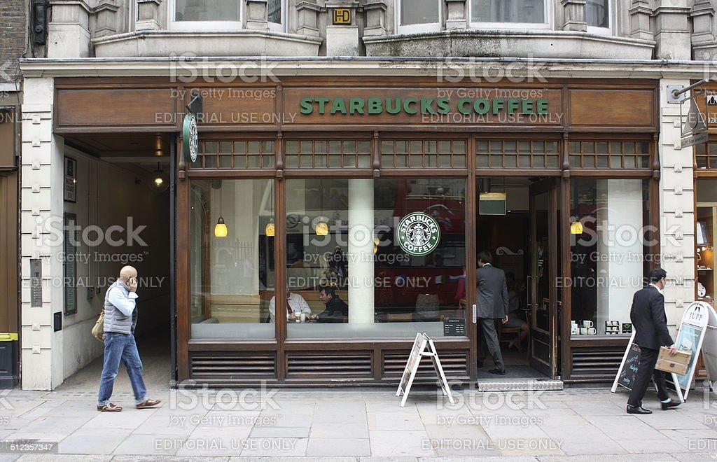 Starbucks London stock photo