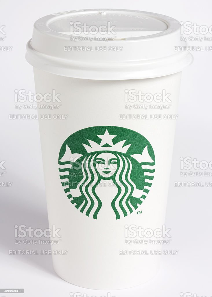 Starbucks Paper Cup stock photo