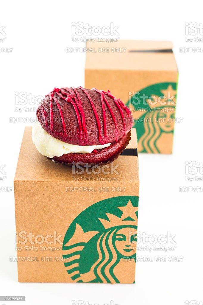 Starbuck\'s Red Velvet Whoopie Pie with it\'s box. One of Starbucks...