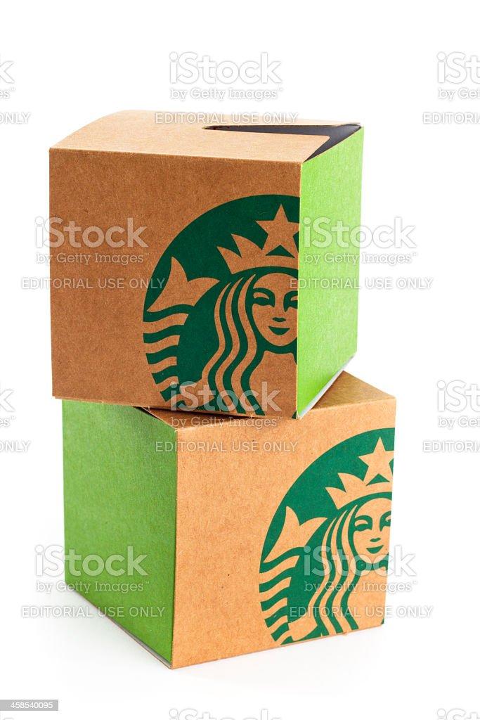 Starbuck's Red Velvet Whoopie Pie With it's Box stock photo