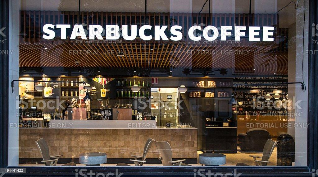 Starbucks shop Fenster – Foto