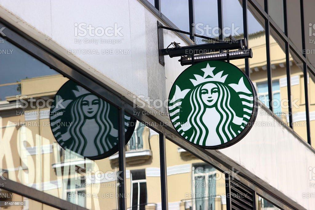 Starbucks Sign in Monaco, La Condamine stock photo