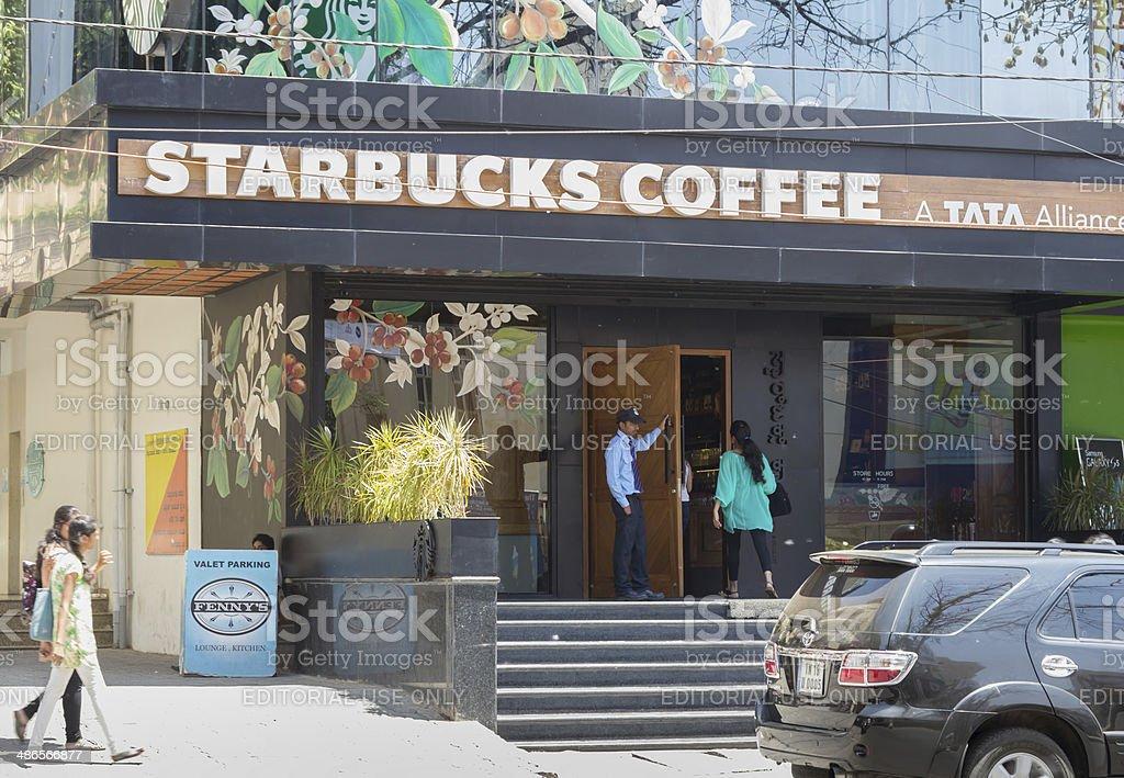 Starbucks store, Bangalore, India stock photo