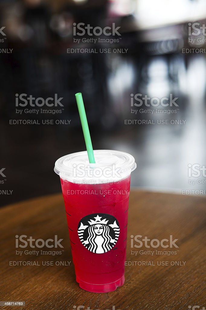 Starbucks venti iced passion tazo lemonade royalty-free stock photo