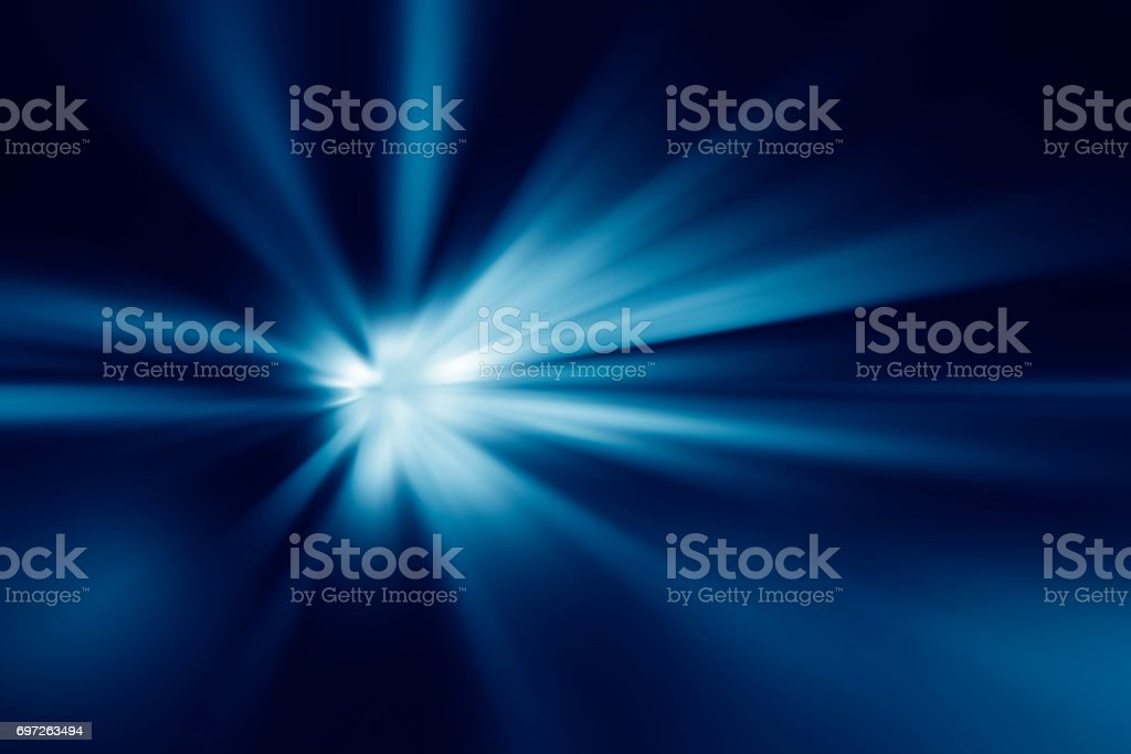 Starburst blue abstract background stock photo