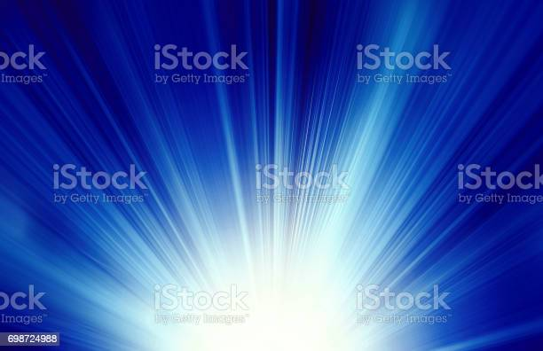 Photo of Starburst blue abstract background