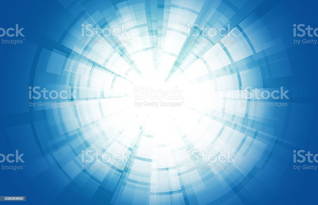 Starburst Blue Light Beam Abstract Background stock photo