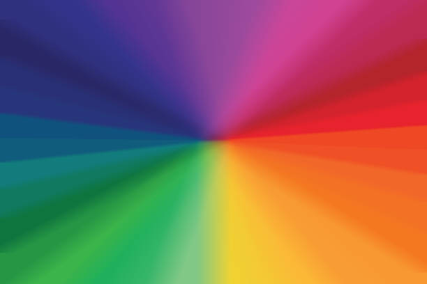 starburst light beam abstract background - spectrum stock pictures, royalty-free photos & images