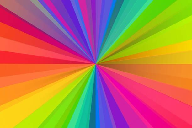 starburst light beam abstract defocused background - arcobaleno foto e immagini stock