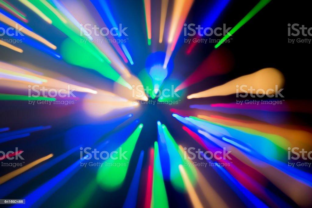 Starburst Light Painting stock photo