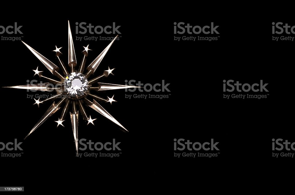 Starburst on Black royalty-free stock photo