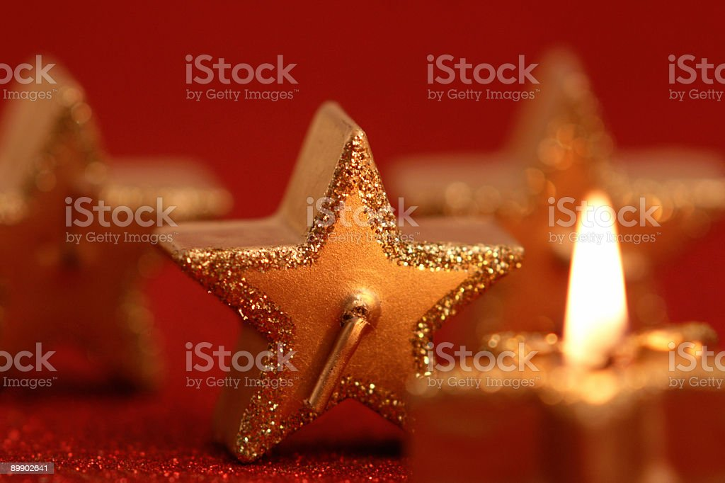 Starcandle royalty-free stock photo