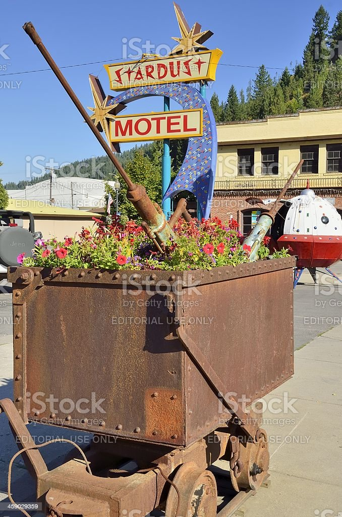 Stardust Motel, Wallace, Idaho stock photo