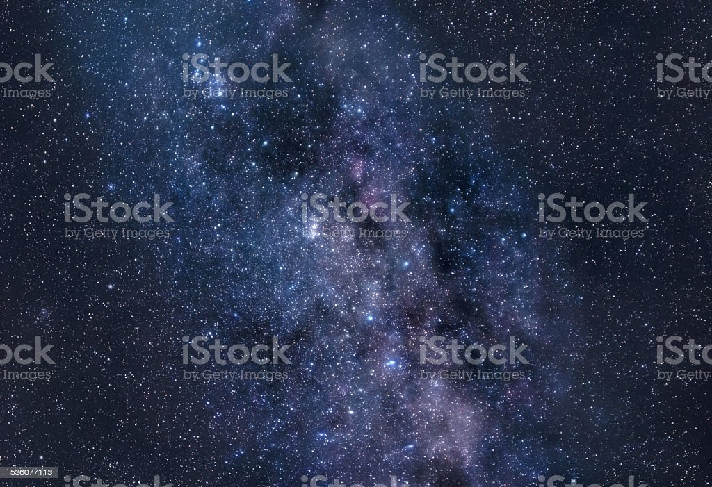 Stardust of Milky Way stock photo