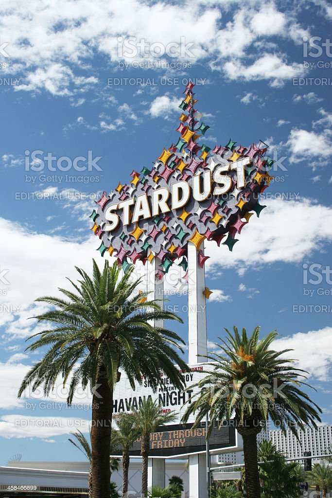 Stardust Sign stock photo