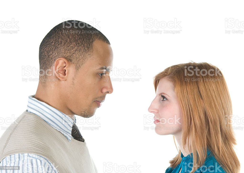Stare Down stock photo
