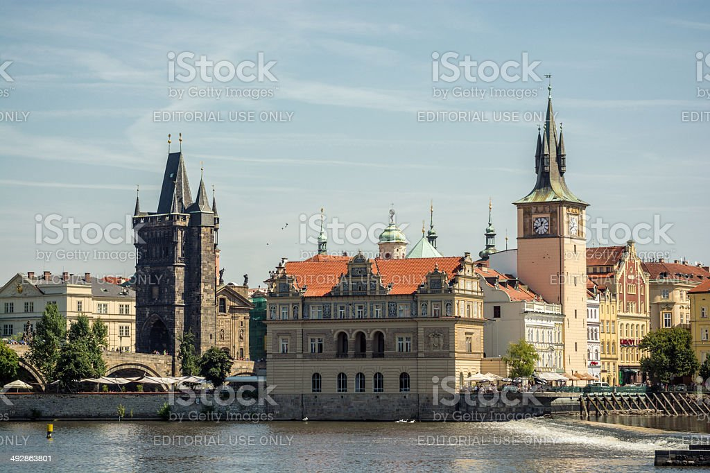 Stare Mesto and Vltava River in Prague, Czech Republic stock photo