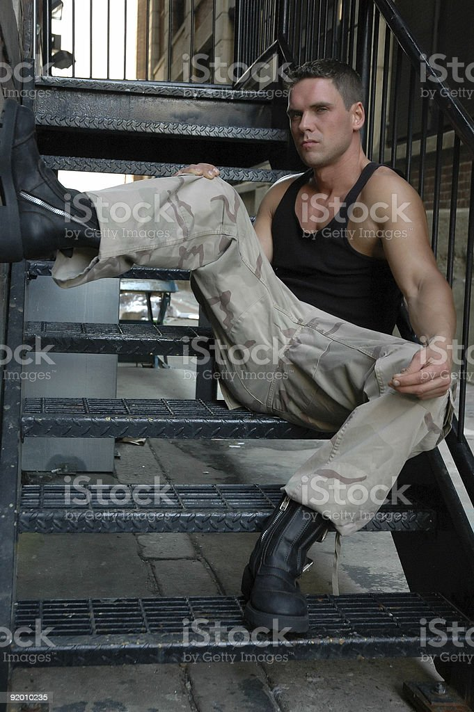 stare on the stairs royalty-free stock photo