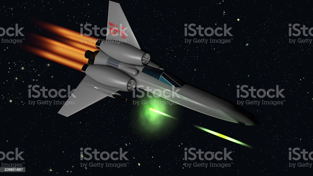 starfighter shooting stock photo