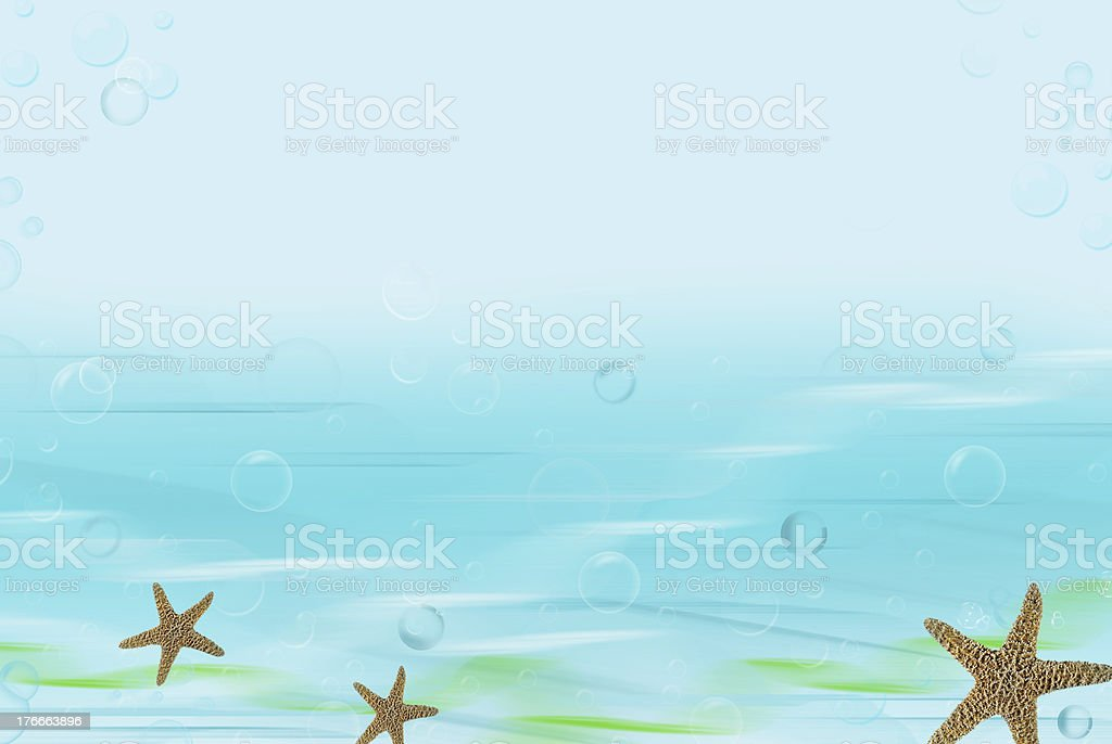 starfish and bubbles royalty-free stock photo
