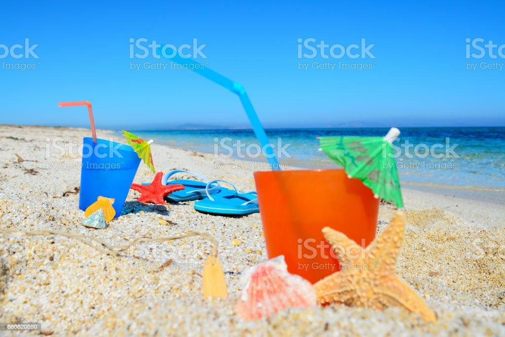 starfish and drinks royalty-free stock photo