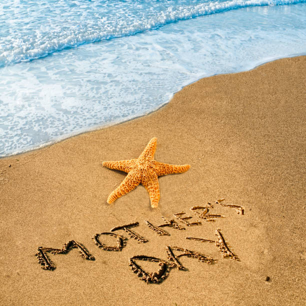 Starfish for Mother's day stock photo