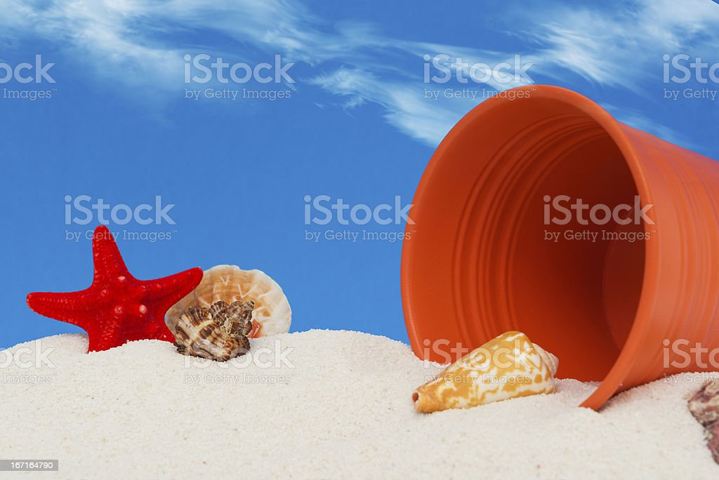 Starfish in the white sand royalty-free stock photo