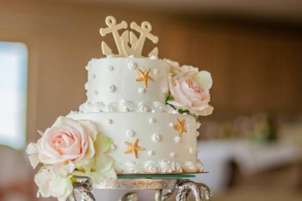 Seestern-Hochzeitstorte – Foto