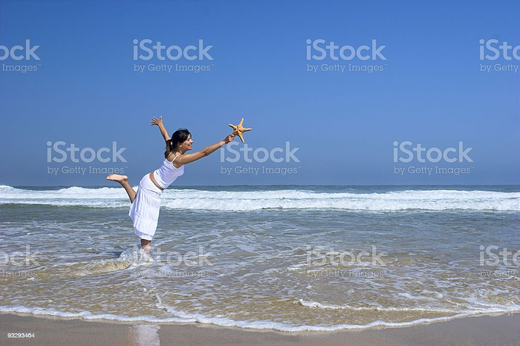 Starfish woman royalty-free stock photo