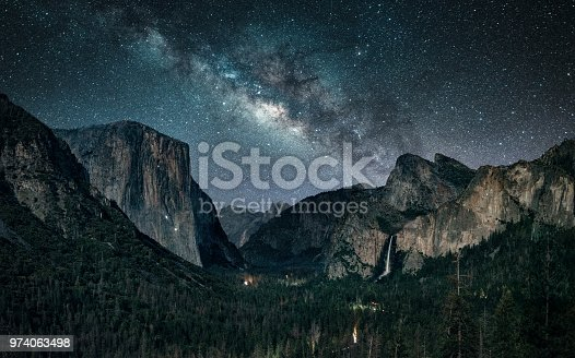 Milky way rising at Yosemite National Park