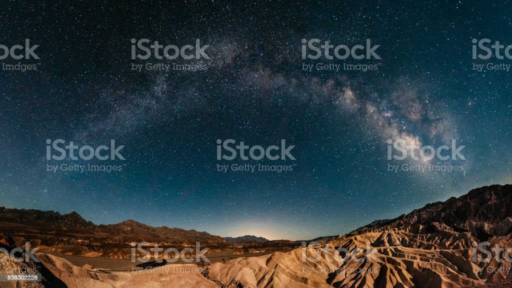 Stargazing in Death Valley stock photo