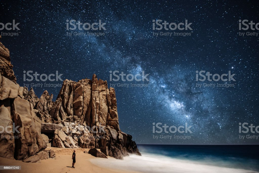 Stargazing in Mexico stock photo