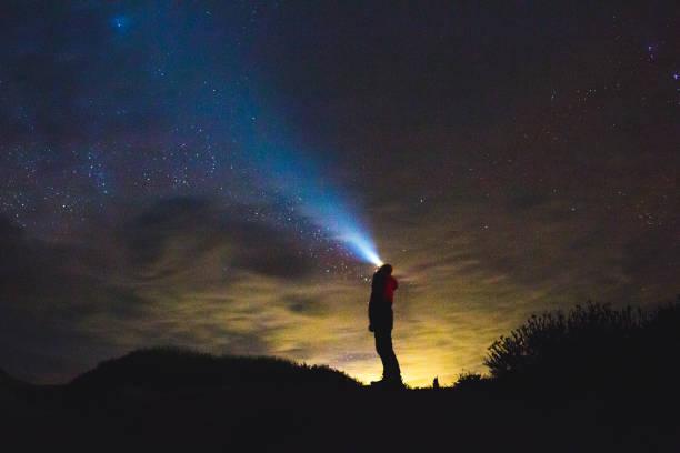 Stargazing stock photo