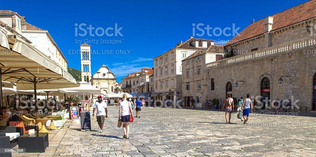 Stari Grad at Hvar island, Croatia stock photo