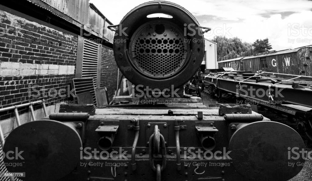 Staring down the barrel of industry stock photo