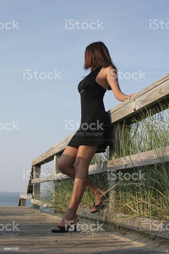 Staring out to See stock photo