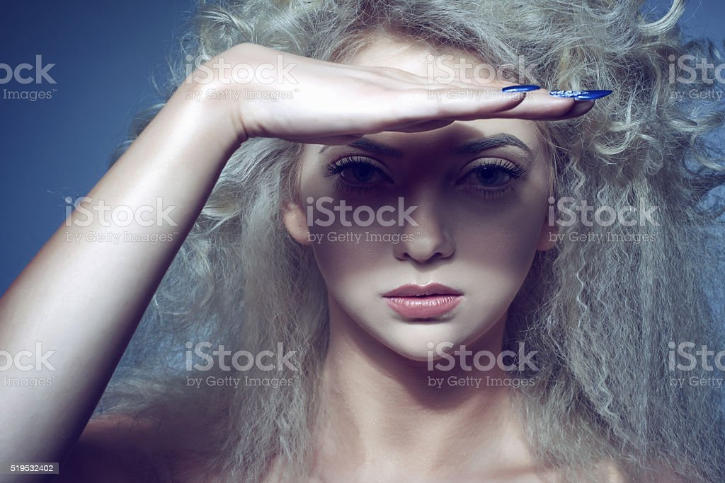 staring with deep look stock photo