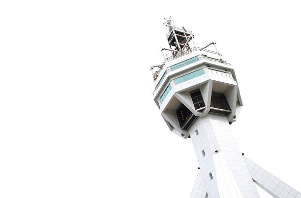 Stark White Control Tower stock photo