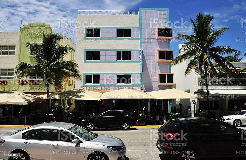 Starlite Hotel in South beach stock photo
