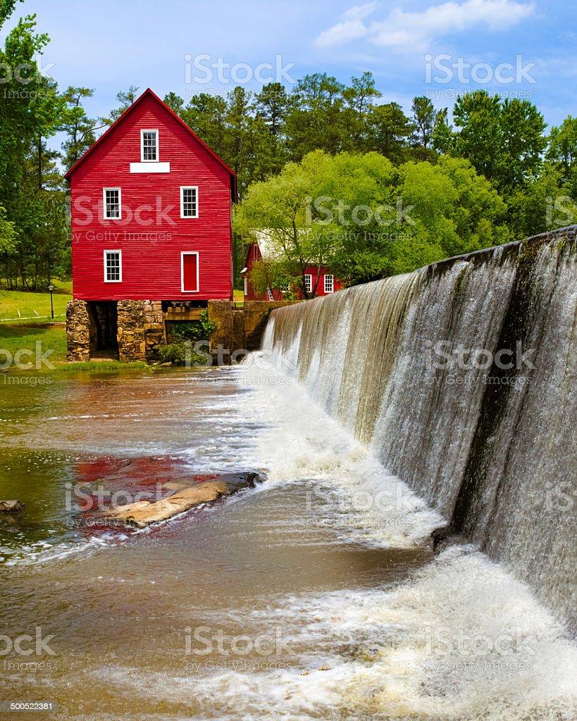 Starr's Mill, a historic landmark near Atlanta stock photo