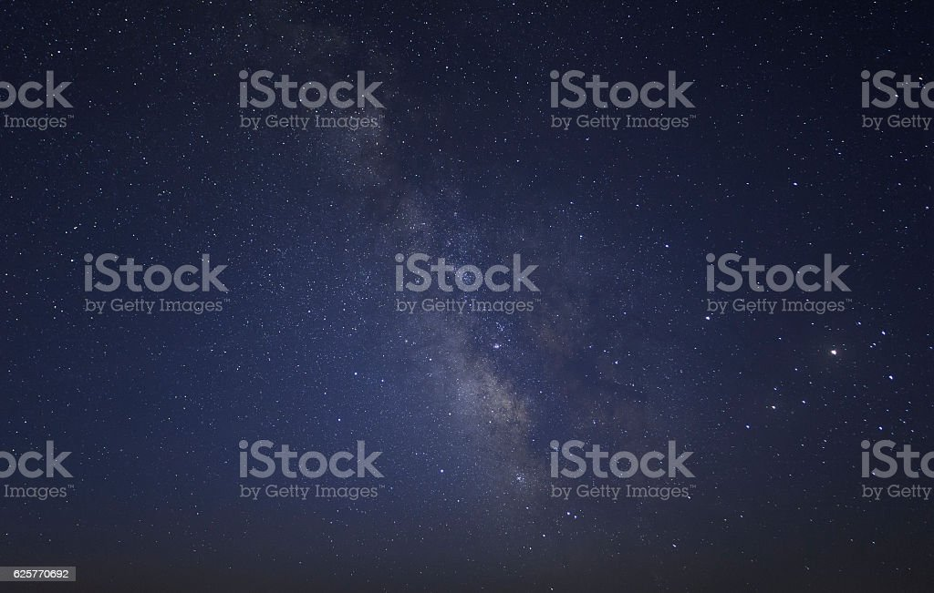 starry and Milky Way background stock photo