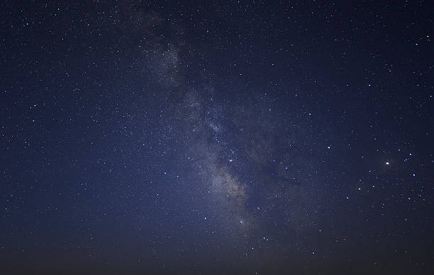 starry and Milky Way background Milky Way background midnight stock pictures, royalty-free photos & images