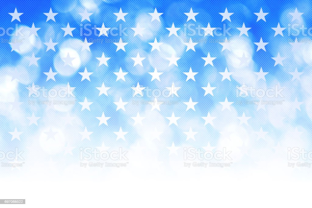 Starry blue defocused abstract background stock photo