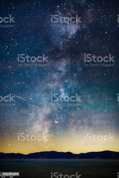 Photo of Starry Night and Milky Way above Lake Tahoe