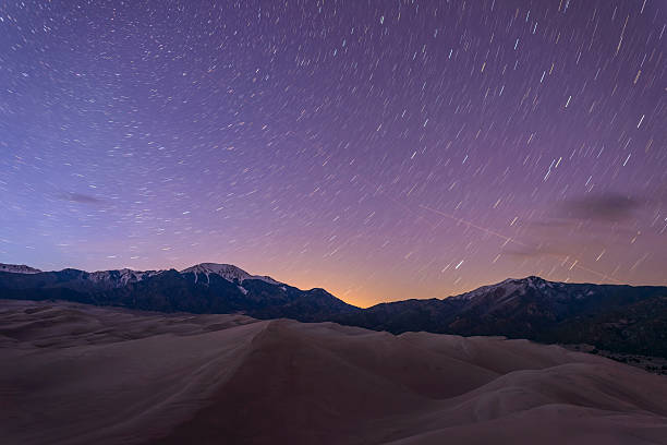 Starry Night at Great Sand Dunes stock photo