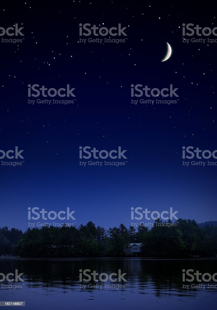 Starry Night II royalty-free stock photo