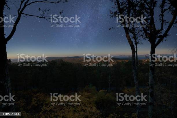Photo of Starry night milky way in Georgia Mountains just after the blue hour